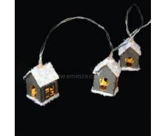 Eminza Guirnalda luminosa Casita Blanco cálido 20 LED
