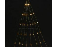Eminza Guirnalda luminosa Micro LED Racimo 2 m Blanco cálido 160 LED CO