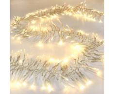 Eminza Guirnalda luminosa Boa 5,60 m Blanco cálido 768 LED