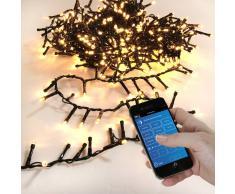 Eminza Guirnalda luminosa Bluetooth 16 m Blanco cálido 800 LED