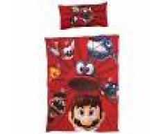 JYSK Ropa de cama infantil Mario (150x220, rojo)