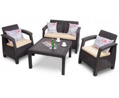 JUSTyou Jardín / Conjuntos de jardín & balcón / Mesas y sillas & bancos de jardín