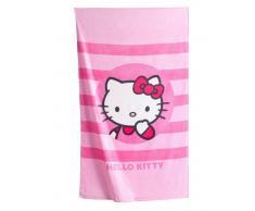 Hello Kitty Toalla de playa modelo NADIA rosa a rayas HELLO KITTY rosa est 072