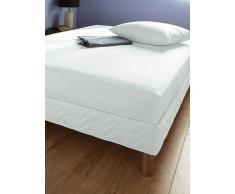 3 Suisses Protector de colchón de felpa en 100 % algodón 3 SUISSES blanco 140