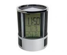 Porta-Lapiceros Con Reloj, Alarma, Fecha, Temperatura