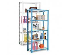 Estantería metálica regulable 200 Kg, 900 x 300 x 1000 mm color azul/