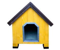 TK Pet Caseta de madera para perros Alpine Amarillo