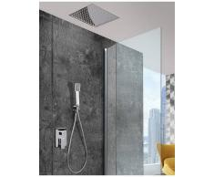 Imex Products, S.L. Griferias de Baño y Cocina Conjunto de ducha empotrada techo rociador 40cm serie volga