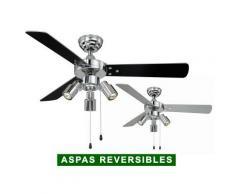 AireRyder Ventilador De Techo Con Luz Aireryder Fn44444 Cyrus Negro O Plateado Cromado