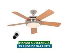 CasaFan Ventilador De Techo Con Luz Casafan 9510560 Titanium 105 Haya O Pino/ Cromo Satinado