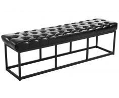 CLP Banco Amun B150 tapizado de cuero sintético negro, soporte metal, altura del asiento 46 cm