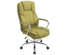 CLP Silla de oficina XXL Xanthos Tela, 210 kg, verde verde, altura del asiento