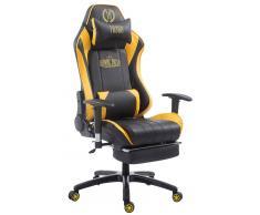 CLP Silla de oficina XL Racing modelo Shift con reposapiés, negro/amarillo negro/amarillo, altura del asiento