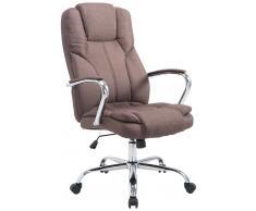 CLP Silla de oficina XXL Xanthos Tela, 210 kg, marrón marrón, altura del asiento