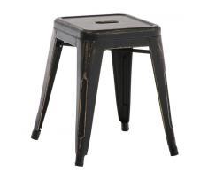 CLP Taburete en metal ARMIN negro/oro, soporte metal, altura del asiento 46 cm
