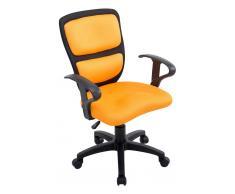 CLP Silla de oficina Einstein para niños negro/amarillo, soporte plastico, altura regulable 43 - 50 cm