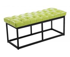 CLP Banco Amun B100 tapizado de cuero sintético verde, soporte metal, altura del asiento 46 cm