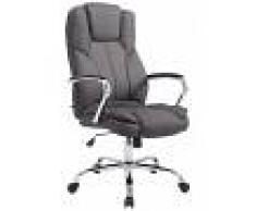 CLP Silla de oficina XXL Xanthos Tela, 210 kg, gris oscuro gris oscuro, altura del asiento