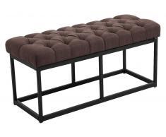 CLP Banco Amun B100 con tapizado de tela marrón, soporte metal, altura del asiento 46 cm