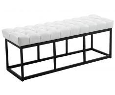 CLP Banco Amun B120 tapizado de cuero sintético blanco, soporte metal, altura del asiento 46 cm