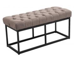 CLP Banco Amun B100 con tapizado de tela gris pardo, soporte metal, altura del asiento 46 cm