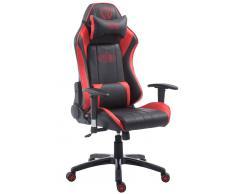 CLP Silla de oficina XL Racing modelo Shift, negro/rojo negro/rojo, altura del asiento