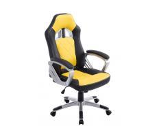 CLP Silla de oficina XL Morgan, negro/amarillo negro/amarillo, altura del asiento