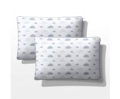 """La Redoute Interieurs Funda de almohada estrellas bebé (lote de 2), """"Dans les nuages"""" azul"""