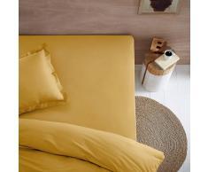 SCENARIO Sábana bajera 100% algodón orgánico para cama articulada amarillo