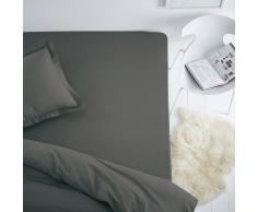 SCENARIO Sábana bajera de algodón/poliéster para colchón estándar gris