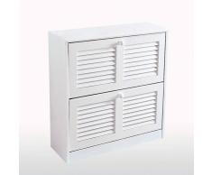 La Redoute Interieurs Mueble zapatero Mayor (hasta 16 pares) blanco