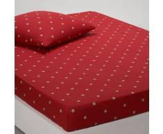 La Redoute Interieurs Sábana bajera ajustable 100% algodón, EDELWEISS rojo
