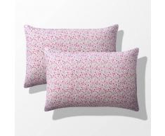 La Redoute Interieurs Funda de almohada de flores bebé (lote de 2), Fleurette rosa