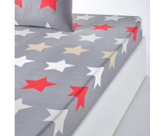 La Redoute Interieurs Sábana bajera estampada STARS, gris oscuro gris
