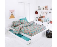 La Redoute Interieurs Juego de cama 100% algodón, Circlo azul