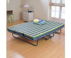 La Redoute Interieurs Cama plegable + somier de láminas + colchón confort firme rojo