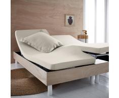 SCENARIO Sábana bajera de punto 100% algodón orgánico para cama articulada beige