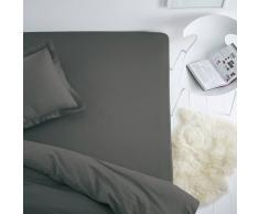 SCENARIO Sábana bajera ajustable de algodón para colchón estándar gris