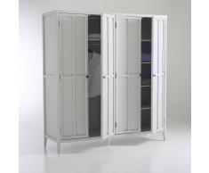 La Redoute Interieurs Armario con 4 puertas Eugénie gris