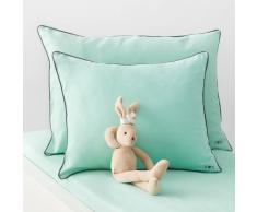 La Redoute Interieurs Funda de almohada para bebé lisa, de algodón. verde