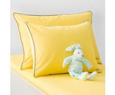La Redoute Interieurs Funda de almohada para bebé lisa, de algodón. amarillo