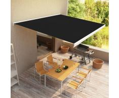 vidaXL Toldo de carrete manual gris antracita 400x300 cm
