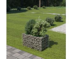 vidaXL Jardinera de gaviones de acero galvanizado 90x50x50 cm