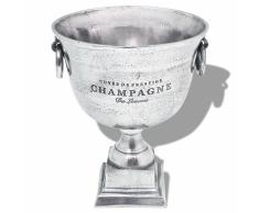 vidaXL Enfriador de champán copa trofeo aluminio plateado
