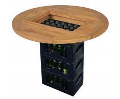 vidaXL Tablero para caja de cerveza madera de teca 70 cm