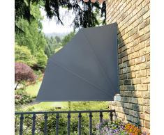 vidaXL Toldo lateral plegable para el patio, 140 x 140 cm, gris