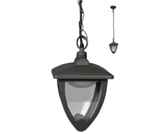 Luxform Lámpara colgante LED Luxembourg antracita LUX1609Z