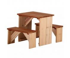 AXI Conjunto mesa + bancos para picnic ZidZed