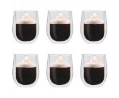 vidaXL Vasos de cristal térmico doble pared para té 6 uds 320 ml