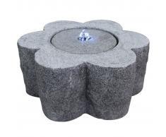 Velda Fuente de piedra con luz LED flor 851183